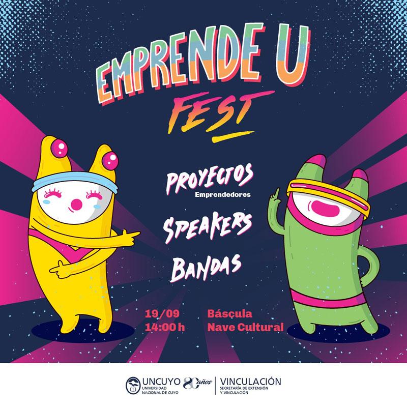 Flyer del Emprende U en Mendoza.