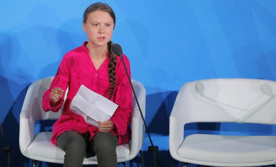Greta Thurnberg en conferencia por el cambio climático.