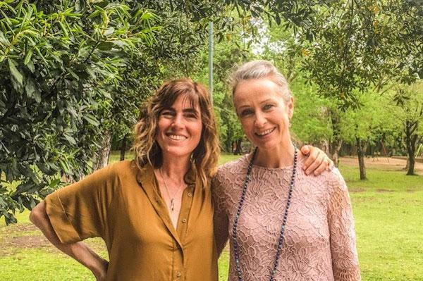 Fabiana Fondevila y Lakshmi en Buenos Aires.