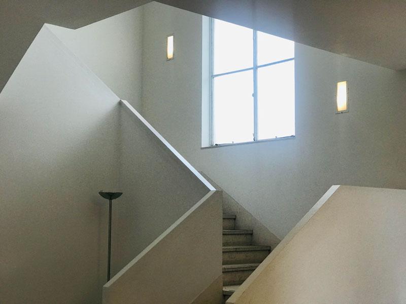 Escaleras de la casa de Victoria Ocampo.
