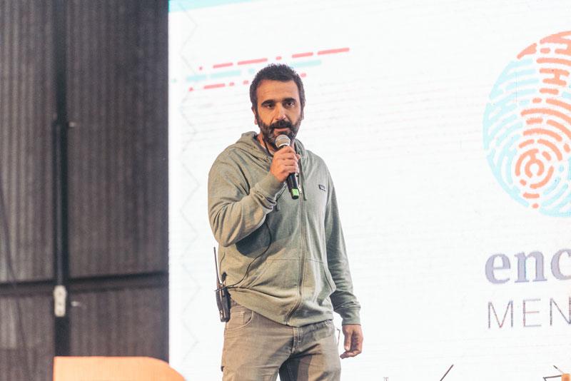 Guillermo Navarro en la apertura del Encuentro Global +B, Mendoza 2019.